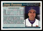 1998 Topps #367  Jorge Fabregas  Back Thumbnail