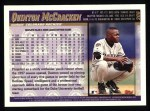 1998 Topps #206  Quinton McCracken  Back Thumbnail
