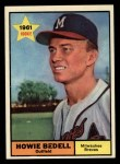1961 Topps #353   Howie Bedell Front Thumbnail