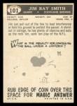1959 Topps #101   Jim Ray Smith Back Thumbnail