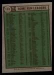 1976 Topps #193  NL HR Leaders    -  Mike Schmidt / Dave Kingman / Greg Luzinski Back Thumbnail