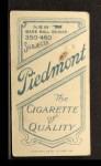 1909 T206 #183  Chick Gandil  Back Thumbnail