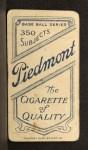 1909 T206 #110   Gavvy Cravath Back Thumbnail