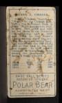1911 T205 #31  Frank Chance  Back Thumbnail