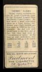 1911 T205 #147  Rebel Oakes  Back Thumbnail