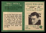 1966 Philadelphia #32  Mike Ditka  Back Thumbnail