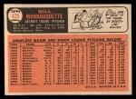 1966 Topps #429   Bill Monbouquette Back Thumbnail