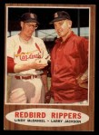 1962 Topps #306  Redbird Rippers  -  Lindy McDaniel / Larry Jackson Front Thumbnail