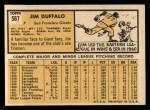 1963 Topps #567 ERR Jim Duffalo  Back Thumbnail