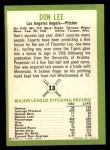 1963 Fleer #18  Don Lee  Back Thumbnail