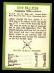1963 Fleer #51   Johnny Callison Back Thumbnail