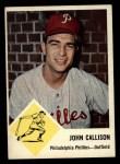 1963 Fleer #51   Johnny Callison Front Thumbnail