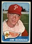 1965 Topps #20  Jim Bunning  Front Thumbnail