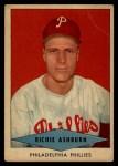 1954 Red Heart #1  Richie Ashburn  Front Thumbnail