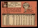 1969 Topps #15  Boog Powell  Back Thumbnail