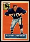 1956 Topps #36   Art Donovan Front Thumbnail