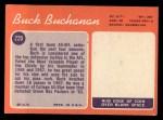 1970 Topps #220  Buck Buchanan  Back Thumbnail