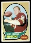 1970 Topps #200  Sonny Jurgensen  Front Thumbnail
