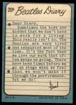 1964 Topps Beatles Diary #20 A  Paul McCartney Back Thumbnail