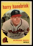 1959 Topps #322 TR Harry Hanebrink  Front Thumbnail