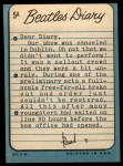 1964 Topps Beatles Diary #5 A  Paul McCartney Back Thumbnail