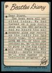 1964 Topps Beatles Diary #8 A Ringo Starr  Back Thumbnail