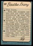 1964 Topps Beatles Diary #58 A Ringo Starr  Back Thumbnail