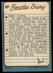 1964 Topps Beatles Diary #40 A Paul McCartney  Back Thumbnail