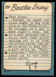 1964 Topps Beatles Diary #35 A  George Harrison Back Thumbnail