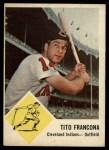 1963 Fleer #12   Tito Francona Front Thumbnail