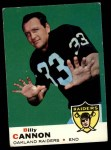 1969 Topps #68   Billy Cannon Front Thumbnail
