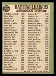 1967 Topps #239  AL Batting Leaders  -  Al Kaline / Tony Oliva / Frank Robinson Back Thumbnail