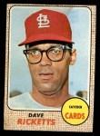 1968 Topps #46   Dave Ricketts Front Thumbnail