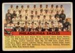 1956 Topps #40   Eagles Team Front Thumbnail