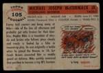 1956 Topps #105  Mike McCormack  Back Thumbnail