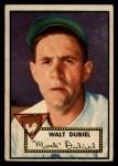 1952 Topps #164  Walt Dubiel  Front Thumbnail