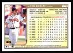 1999 Topps #329   John Smoltz Back Thumbnail