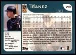 2001 Topps #219   Raul Ibanez Back Thumbnail
