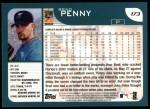 2001 Topps #173  Brad Penny  Back Thumbnail
