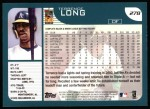 2001 Topps #278  Terrence Long  Back Thumbnail