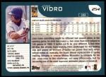 2001 Topps #254   Jose Vidro Back Thumbnail
