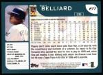 2001 Topps #277  Ron Belliard  Back Thumbnail