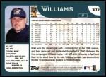 2001 Topps #303  Mike Williams  Back Thumbnail