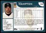 2001 Topps #708  Mike Hampton  Back Thumbnail