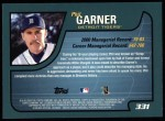 2001 Topps #331  Phil Garner  Back Thumbnail