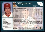2001 Topps #8  Craig Paquette  Back Thumbnail