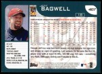 2001 Topps #407   Jeff Bagwell Back Thumbnail