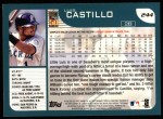 2001 Topps #244   Luis Castillo Back Thumbnail