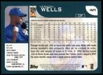 2001 Topps #421  Vernon Wells  Back Thumbnail