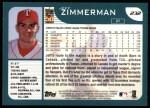 2001 Topps #232  Jeff Zimmerman  Back Thumbnail
